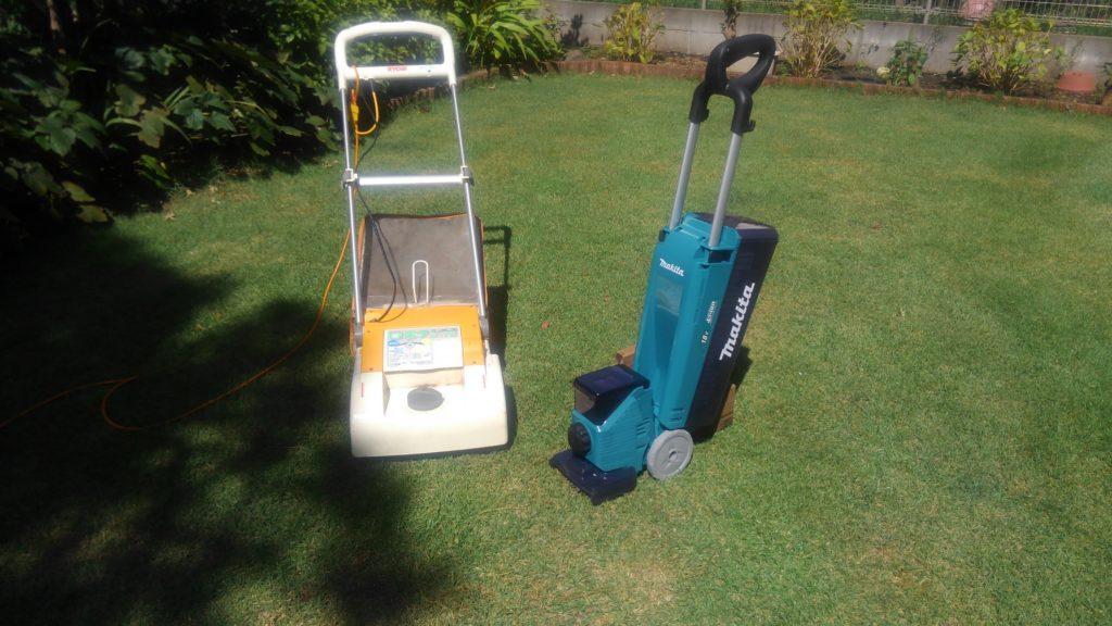 充電式と電動芝刈り機